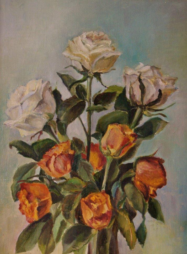 """""""Розы"""" холст/ масло 35 х 45     Цена:  8 000 руб.jpg"""