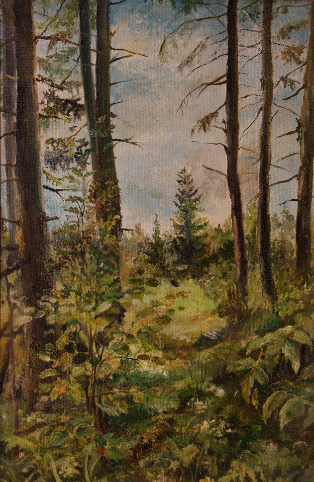 """""""На лесной тропе"""" холст/ масло 45 х 30     Цена: 10 000 руб.jpg"""