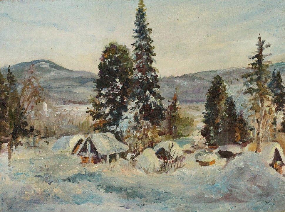 """""""Зима"""" холст/ масло (находится в частной коллекции).JPG"""