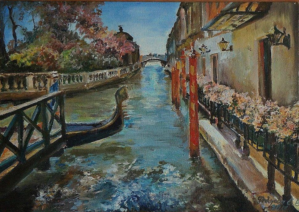 """""""Венецианская сказка"""" холст на оргалите/ масло 25х35(находится на выставке в Лондоне).JPG"""